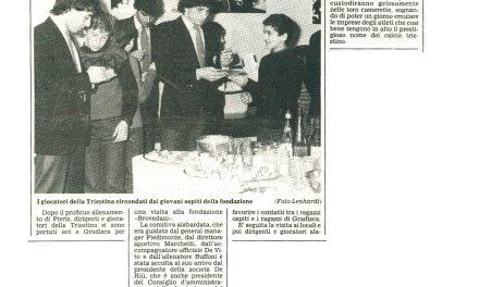 """La squadra rossoalabardata alla fondazione """"Brovedani"""""""