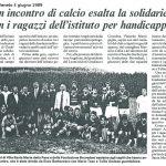 Un incontro di calcio esalta la solidarietà con i ragazzi dell'istituto per handicappati