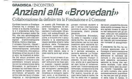 """Anziani alla """"Brovedani"""""""