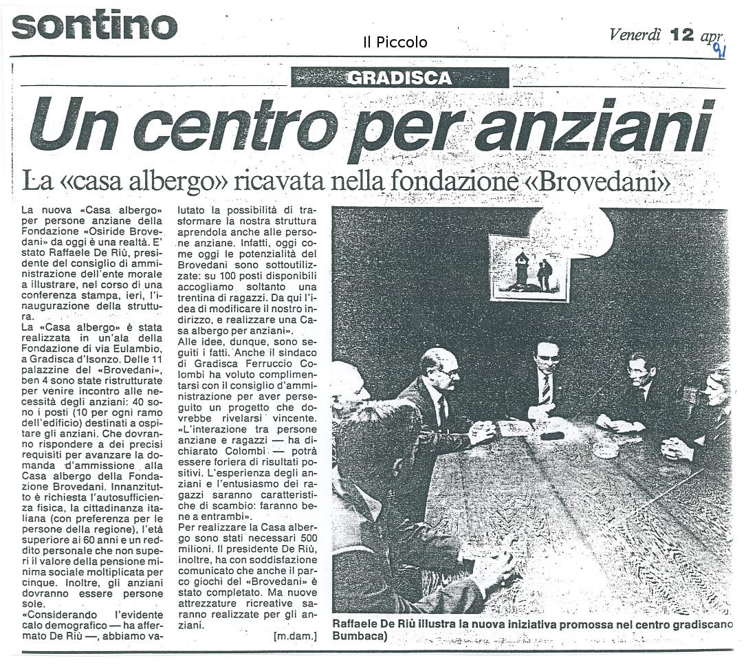 Un centro per anziani - Fondazione Osiride Brovedani Onlus