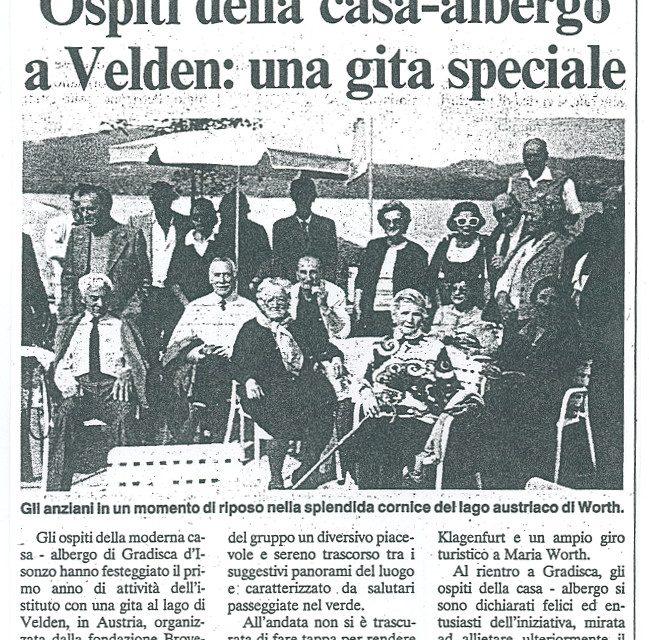 Ospiti della Casa-Albergo a Velden: gita speciale