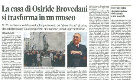La casa di Osiride Brovedani si trasforma in un museo