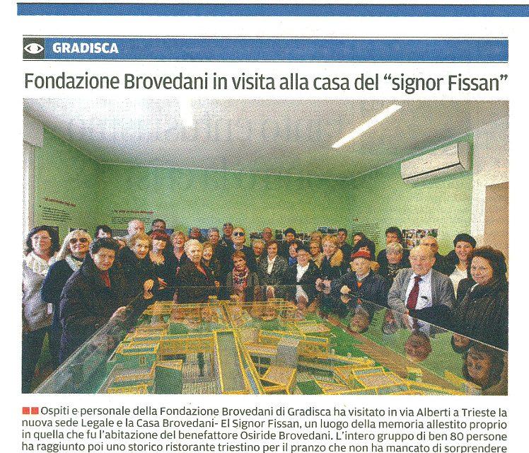 """Fondazione Brovedani in visita alla casa del """"signor Fissan"""""""