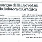 Sostegno della Brovedani alla ludoteca di Gradisca