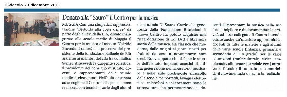 Donato alla Sauro, il centro per la musica
