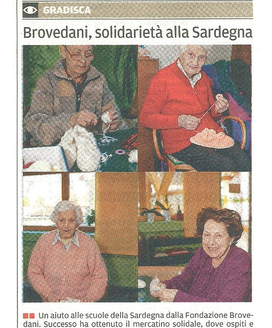 Brovedani, solidarietà alla Sardegna