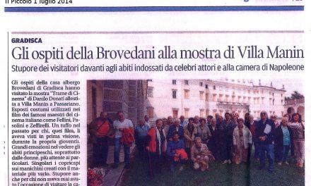Gli ospiti di Brovedani alla mostra di Villa Manin