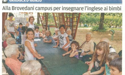 Alla Brovedani campus per insegnare l'inglese ai bimbi