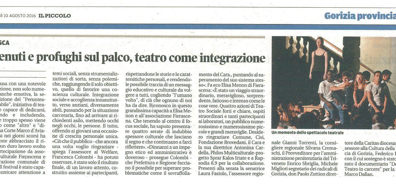 Detenuti e profughi sul palco, teatro come integrazione