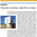 Murale artistico alla Brovedani
