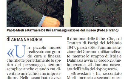"""Mieli: """"Brovedani simbolo della Trieste attiva e plurale"""""""