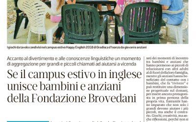 Se il campus estivo in inglese unisce bambini e anziani della Fondazione Brovedani