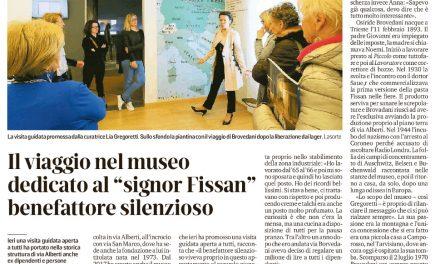 """Il viaggio nel museo dedicato al """"signor Fissan"""" benefattore silenzioso"""