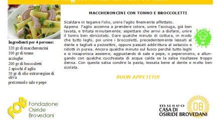 maccheroncini con tonno e broccoletti