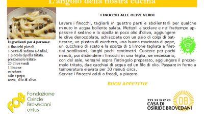 finocchi alle olive verdi