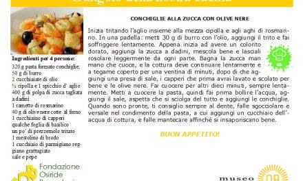 conchiglie alla zucca con olive nere