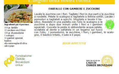 farfalle con gamberi e zucchine
